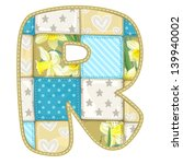 Roundish Font From Quilted From ...