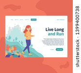 live long and run  perfect for... | Shutterstock .eps vector #1399400738