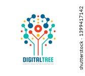 digital tree   vector logo... | Shutterstock .eps vector #1399417142