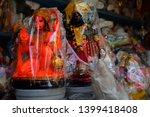 hindu god hanuman and goddess...   Shutterstock . vector #1399418408