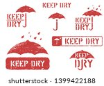 keep dry  handle with care... | Shutterstock .eps vector #1399422188