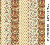 seamless ethnic mughal floral... | Shutterstock . vector #1399457522