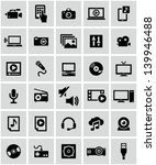 multimedia icons | Shutterstock .eps vector #139946488