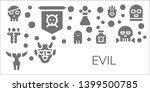 evil icon set. 11 filled evil... | Shutterstock .eps vector #1399500785