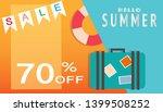summer time background template ... | Shutterstock .eps vector #1399508252