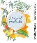 vector organic labels  bio... | Shutterstock .eps vector #1399529312