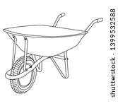 isolated  garden wheelbarrow ...   Shutterstock .eps vector #1399532588
