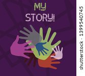 word writing text my story.... | Shutterstock . vector #1399540745