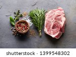 pork meat with herbs and spices | Shutterstock . vector #1399548302