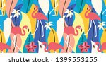 abstract summer tropical... | Shutterstock .eps vector #1399553255