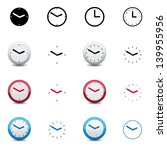 clock icons | Shutterstock .eps vector #139955956