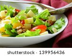 snack salad with cheese and...   Shutterstock . vector #139956436
