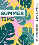 colorful summer poster with... | Shutterstock .eps vector #1399569542