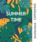colorful summer poster with... | Shutterstock .eps vector #1399569545