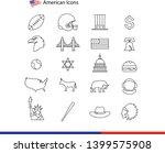 Usa Symbols   Many Vector Flat...