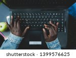 close up hands of a young... | Shutterstock . vector #1399576625