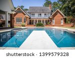 large blue swimming pool... | Shutterstock . vector #1399579328