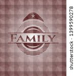 family red seamless emblem or... | Shutterstock .eps vector #1399590278