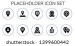 placeholder icon set. 10 filled ...