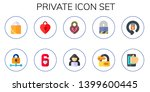 private icon set. 10 flat... | Shutterstock .eps vector #1399600445