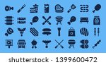 barbecue icon set. 32 filled...   Shutterstock .eps vector #1399600472
