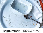 empty dinner plate at an... | Shutterstock . vector #1399624292