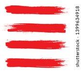 brush stroke set isolated on... | Shutterstock .eps vector #1399634918