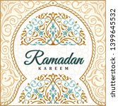 ramadan kareem greeting... | Shutterstock .eps vector #1399645532