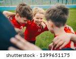 happy children making sport.... | Shutterstock . vector #1399651175