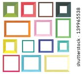 set of colorful wooden frames | Shutterstock .eps vector #139965538