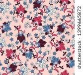 seamless watercolor flowers... | Shutterstock . vector #1399665872