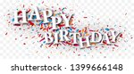 happy birthday text over the... | Shutterstock . vector #1399666148
