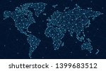 vector world map   global... | Shutterstock .eps vector #1399683512