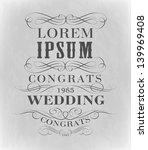 typography wedding ... | Shutterstock .eps vector #139969408