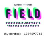 glitched display font design ... | Shutterstock .eps vector #1399697768