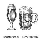 mug and glass of beer isolated...   Shutterstock .eps vector #1399700402