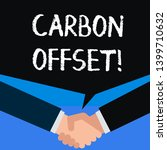 writing note showing carbon... | Shutterstock . vector #1399710632