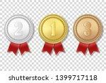 vector 3d realistic gold ... | Shutterstock .eps vector #1399717118