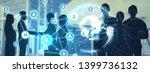global communication network... | Shutterstock . vector #1399736132