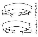 vintage ribbon scroll simple... | Shutterstock .eps vector #1399736225