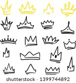 various doodle crowns. hand... | Shutterstock .eps vector #1399744892