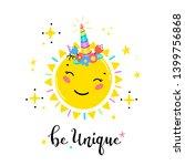 magic unicorn little cute... | Shutterstock .eps vector #1399756868