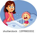baby crying next to worried... | Shutterstock .eps vector #1399803332
