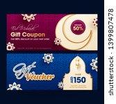 eid mubarak gift coupon or... | Shutterstock .eps vector #1399807478