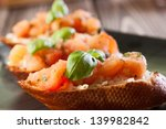 bruschetta with mozzarella and... | Shutterstock . vector #139982842