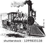 locomotive is a rail transport... | Shutterstock .eps vector #1399835138