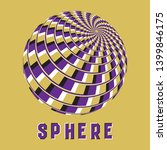 abstract sphere logo symbol... | Shutterstock .eps vector #1399846175