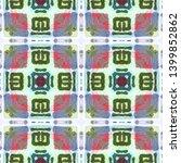 tibetan fabric. seamless tie... | Shutterstock . vector #1399852862