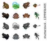 vector design of wildlife and... | Shutterstock .eps vector #1399856405