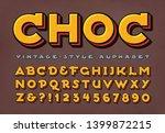 a unique vintage alphabet with... | Shutterstock .eps vector #1399872215